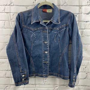 E Karry studded jean jacket